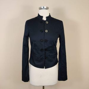Club Monaco Dark Blue Button Up Jacket